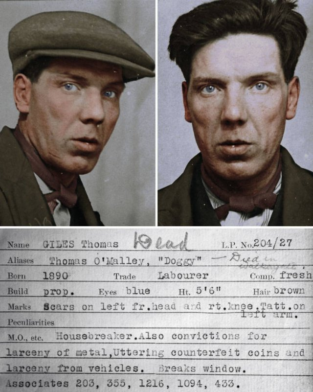 Colorized Mugshots Of Criminals From The 30's (9 pics)