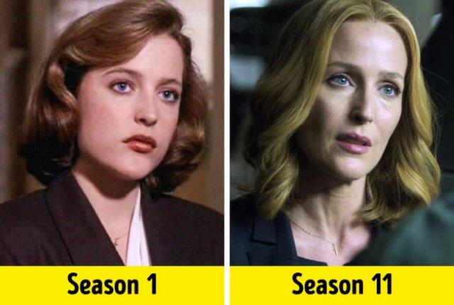 TV Show Actors, First Season Vs. Last Season (26 pics)