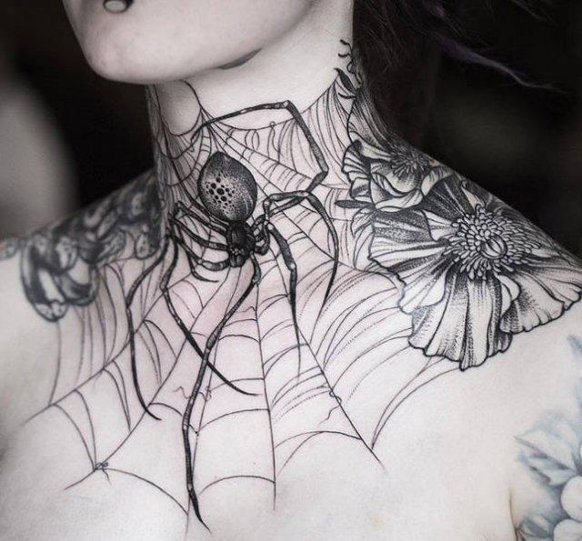 Neck Tattoos (50 pics)