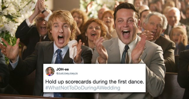 What Not To Do During A Wedding (11 pics)