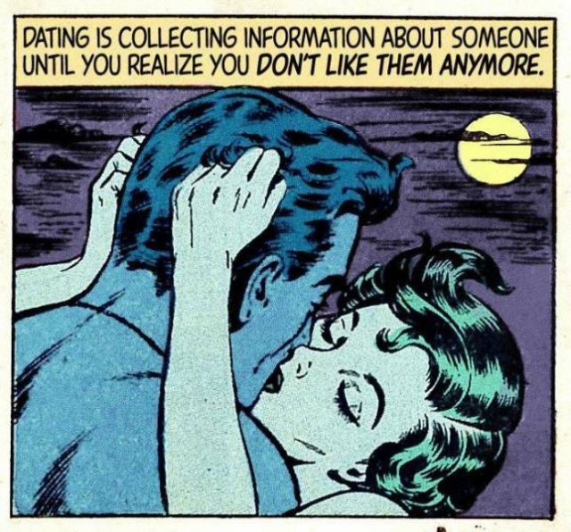 Modern Love Meets Vintage Romantic Comics (30 pics)