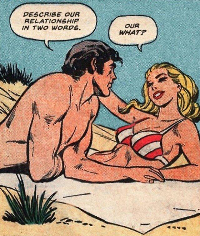 Modern Love Meets Vintage Romantic Comics (30 pics)
