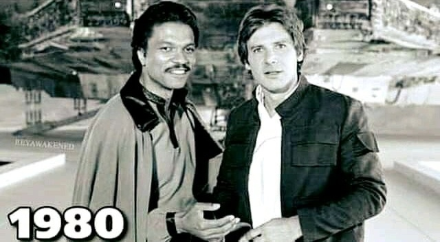 Harrison Ford And Billy Dee Williams 30 Years Later (2 pics)