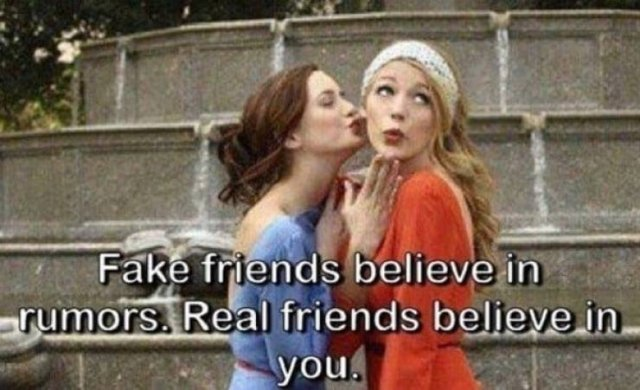 Memes About Fake Friends (28 pics)