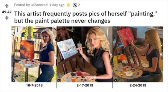 Why Does Her Palette Never Change? (7 pics)