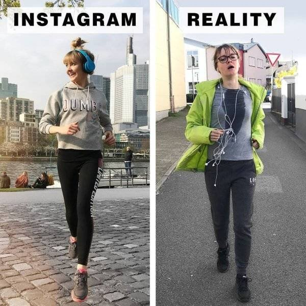 Instagram Vs Reality By Geraldine West (24 pics)