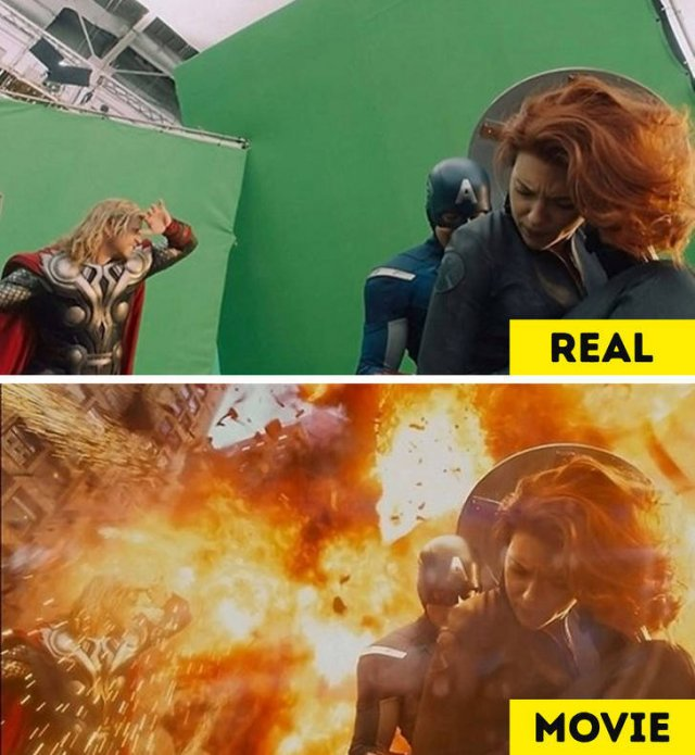 Behind-The-Scenes Photos VS Movie Moments (20 pics)