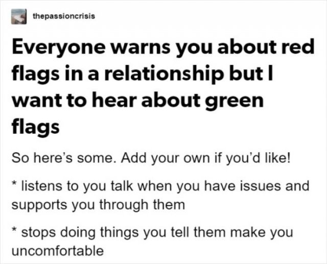Green Flags In Relationships (7 pics)