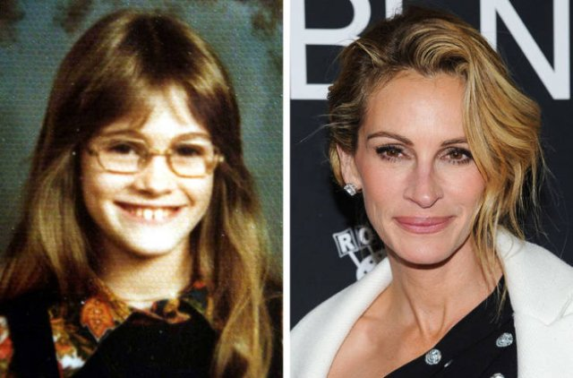 Celebs In Their School Years And Now (20 pics)