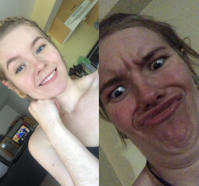 The Same Girl Can Look Cute And Not That Cute (33 pics)