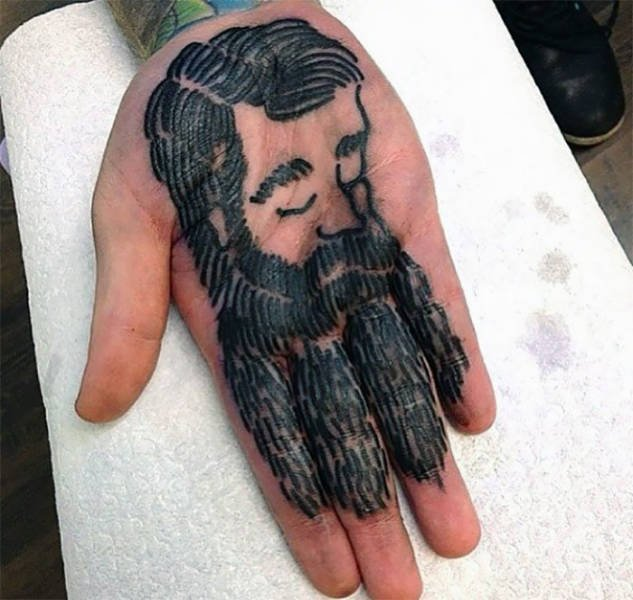 Tattoos On Palms (62 pics)