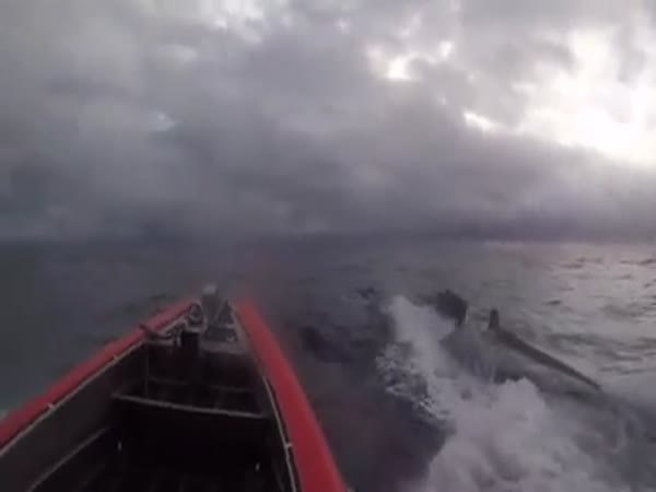 US Coast Guard Boards Drug Smuggling Submarine