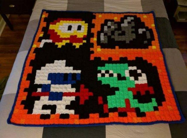 Retro Game Blankets (40 pics)