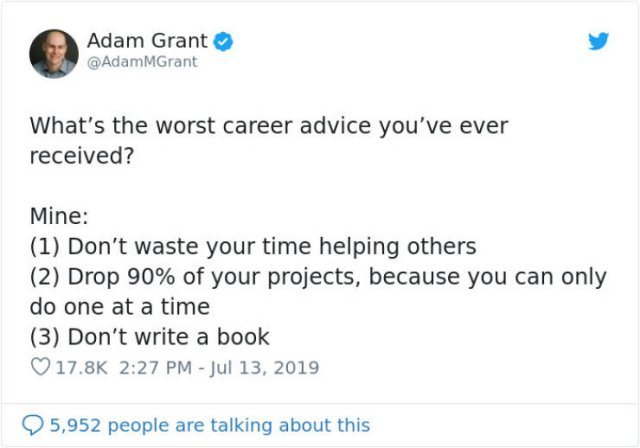 Share The Worst Career Advice You've Ever Received (36 pics)