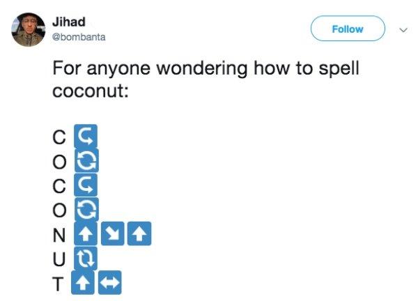 Spell Coconut Meme (16 pics)