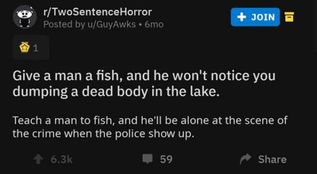 A Horror Story In Two Sentences. And It's Really Creepy (30 pics)