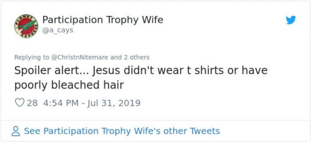 "Woman Wears A ""Jesus Wasn't Vaccinated"" T-Shirt, And Internet Reacts (16 pics)"