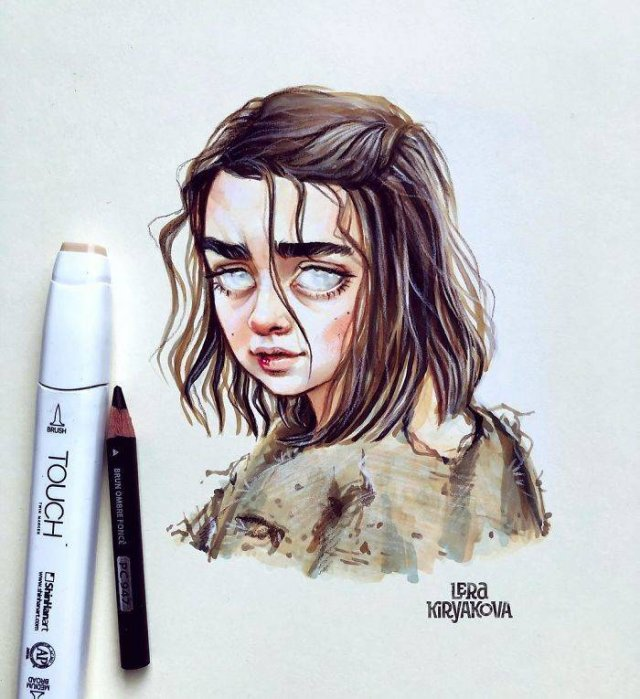 Cute Versions Of Celebrities By A Russian Artist Lera Kiryakova (30 pics)