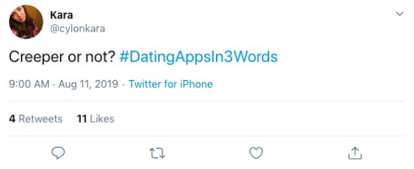 Dating Apps in 3 Words (15 pics)