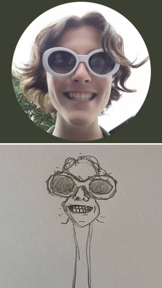 One Guy Is Drawing Funny People's Twitter Profile Pics (40 pics)