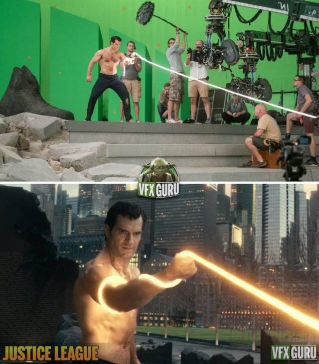 Behind The Scenes Of Famous Movies (16 pics)