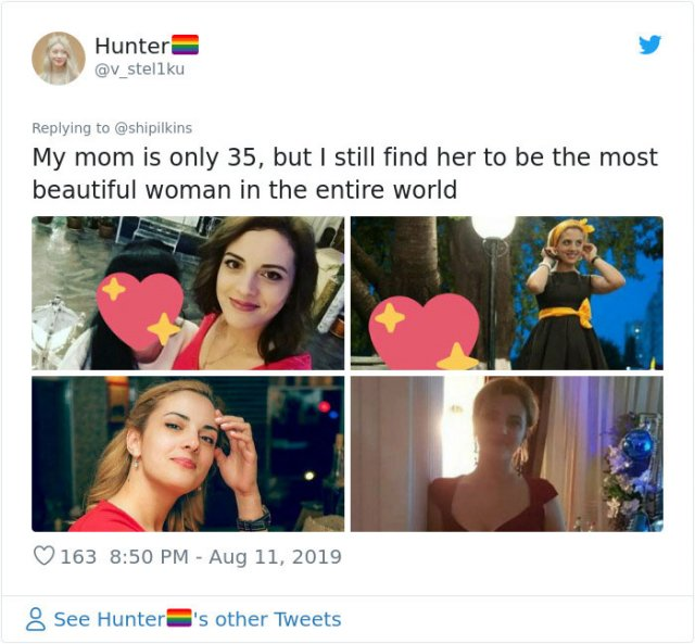 People Show Their Beautiful Moms (22 pics)