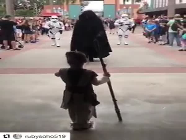 Young Jedi Fighting The Dark Side