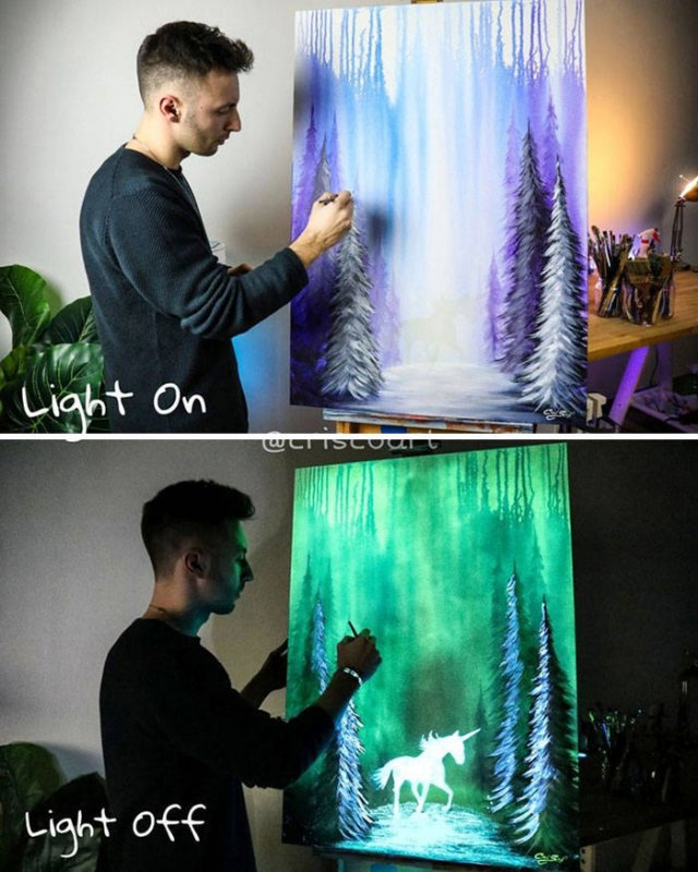 Turn Off The Lights To See The Beauty Of These Paintings (30 pics)
