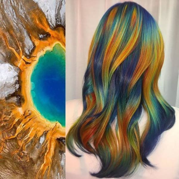 Incredible Combination Of Nature And Hair (16 pics)