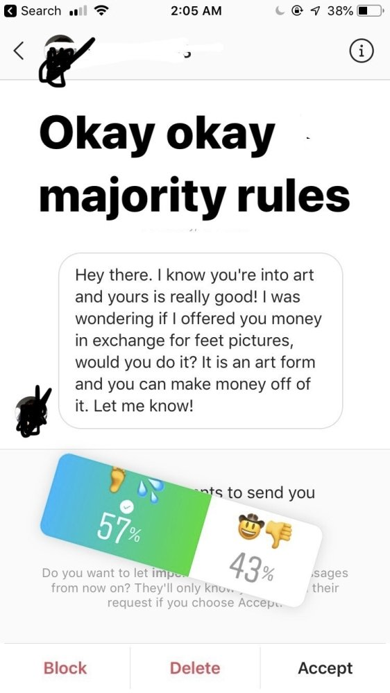 A Girl Trolls An Ex-classmate Who Offered Her $50 For Pictures Of Her Feet (22 pics)