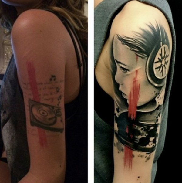 Awesome Tattoo Cover-ups (31 pics)