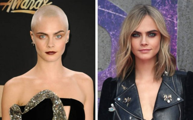 Female Celebs Who Decided To Get Rid Of Their Hair (10 pics)