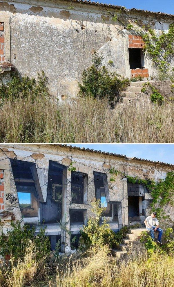 Rodrigo Nunes AKA Vile Creates Awesome Graffitis That Look Like Optical Illusions (24 pics)