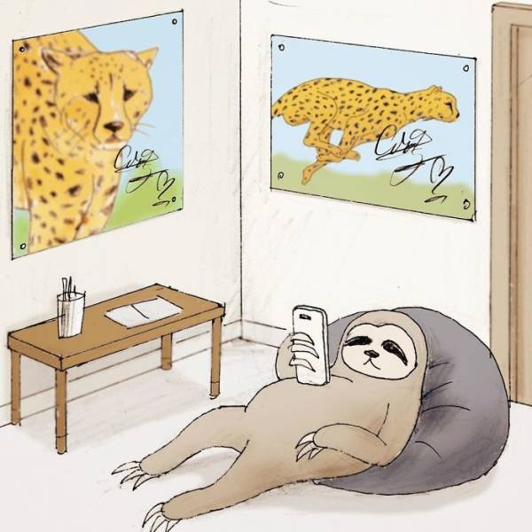 Sloth Problems By A Japanese Artist Keigo (30 pics)
