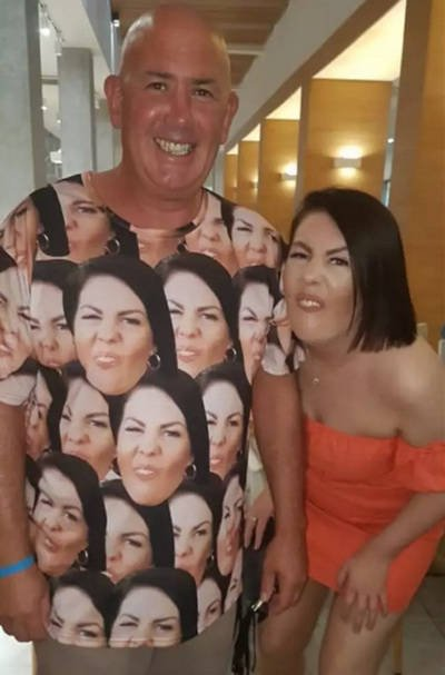 Father Gave This Swimsuit To His Daughter To Scare Horny Stares Away From Her (5 pics)