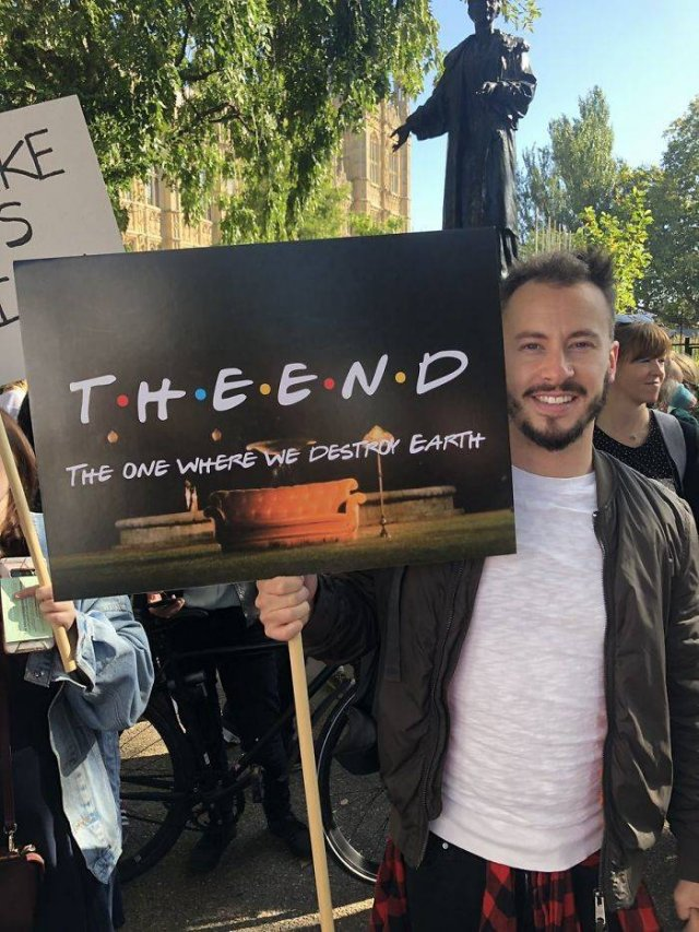 Climate Change Strike Got Funny And Smart Signs (30 pics)
