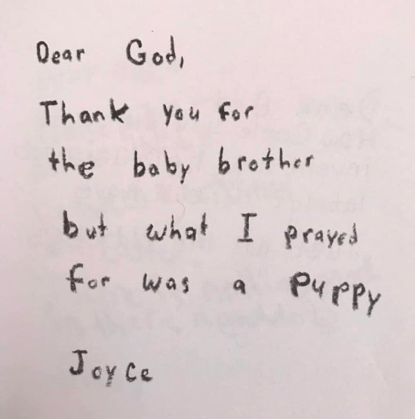 Teacher Asks Her 3rd Graders To Write A Letter To God (28 pics)