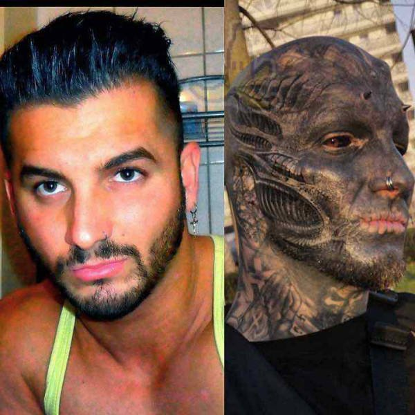 Guy From France Turned Himself Into An Alien (9 pics)
