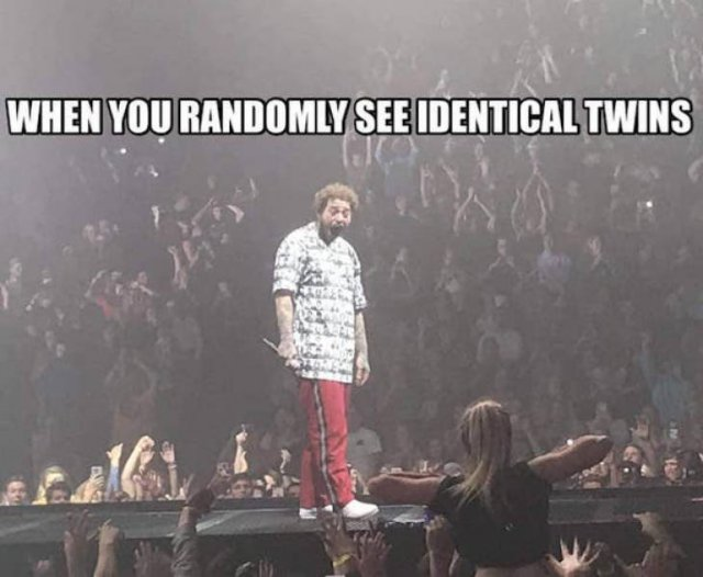 """Post Malone Being Flashed At A Concert"" Memes (22 pics)"