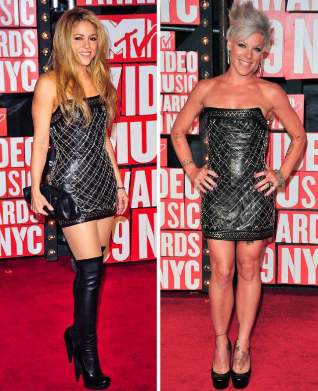 Celebs In Identical Outfits (17 pics)