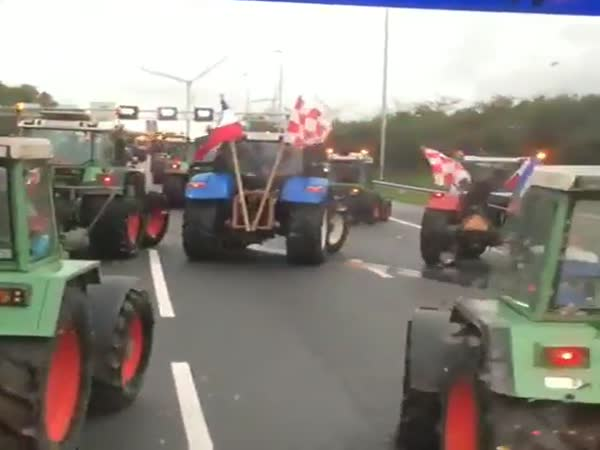 Farmers Are Protesting In The Netherlands And Also Having A Little Fun