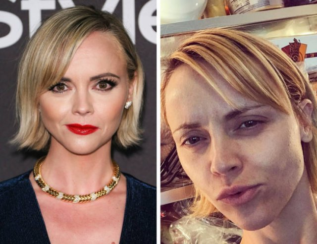 Famous Women With And Without Makeup (19 pics)