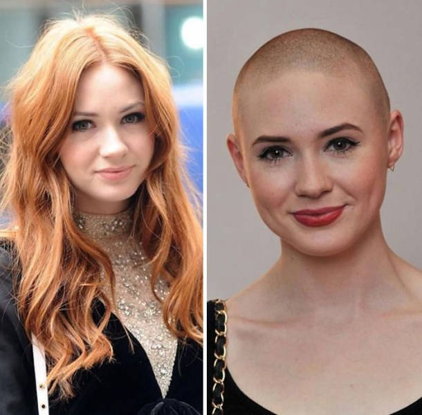 Famous People With And Without Hair (30 pics)