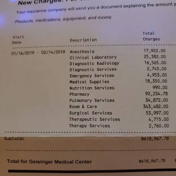 US Medical Bills Are Out Of This World (16 pics)