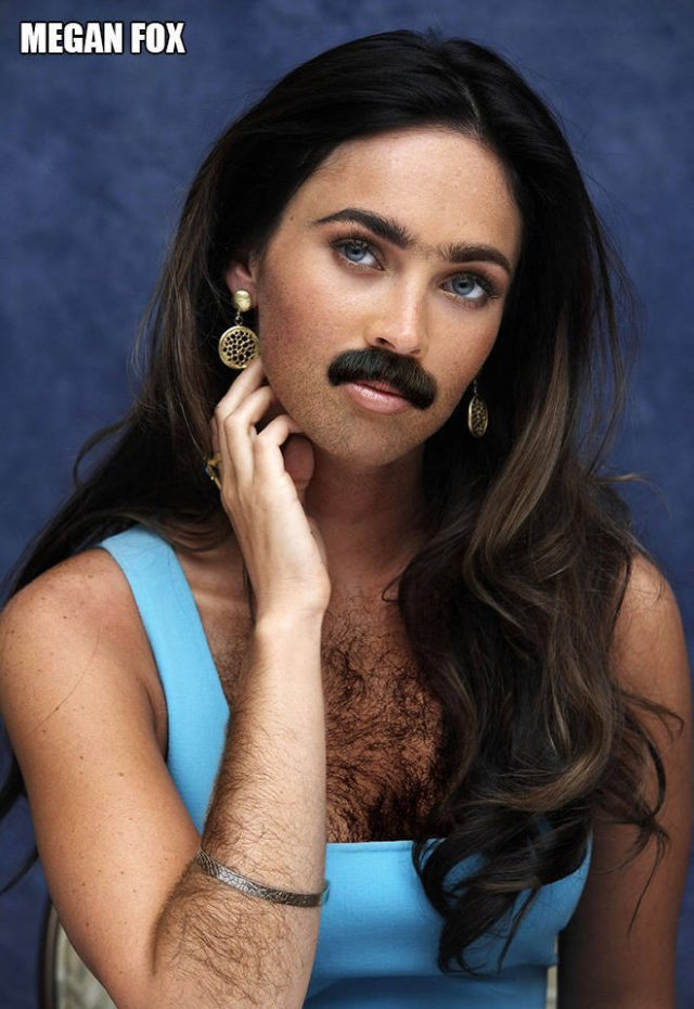 If Famous Ladies Were More Hairy... (22 pics)
