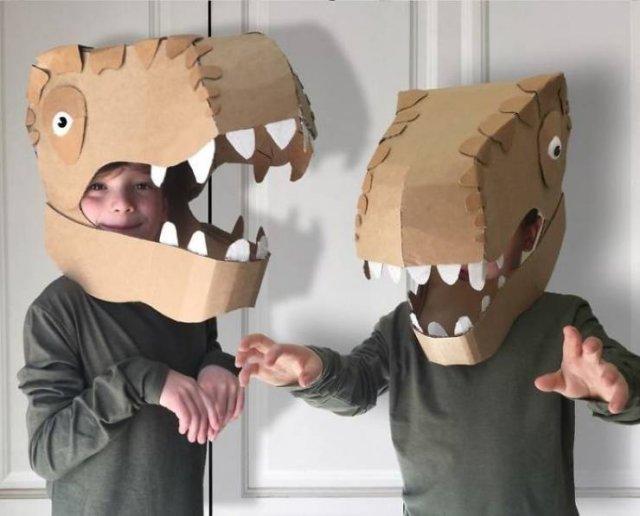 DIY Cardboard Costumes For Kids (20 pics)