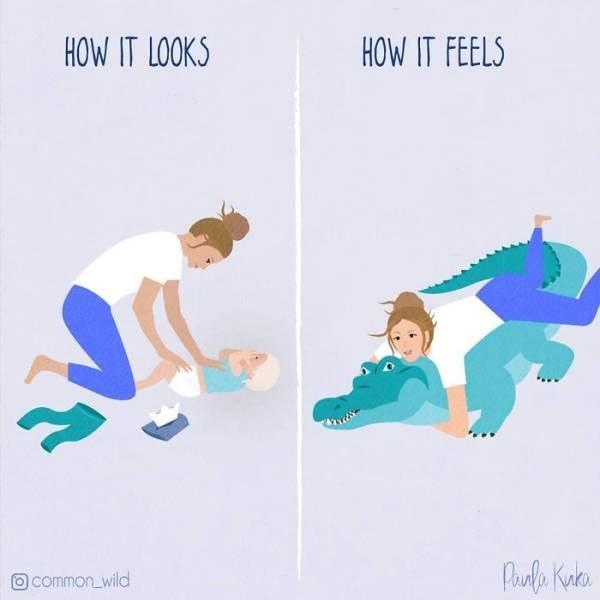 Realistic Comics About Motherhood (30 pics)