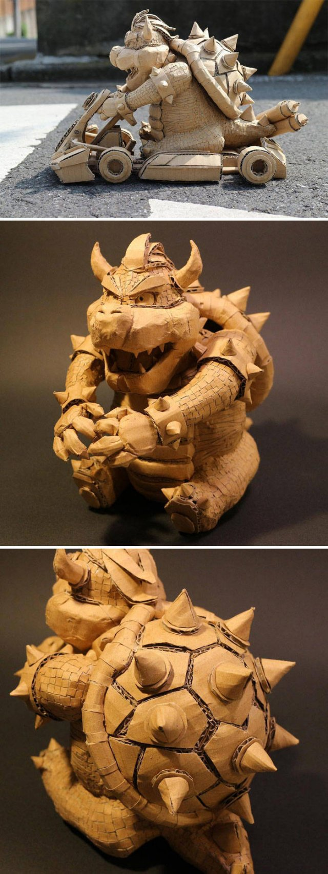 Artist Turns Old Amazon Boxes Into Sculptures (30 pics)