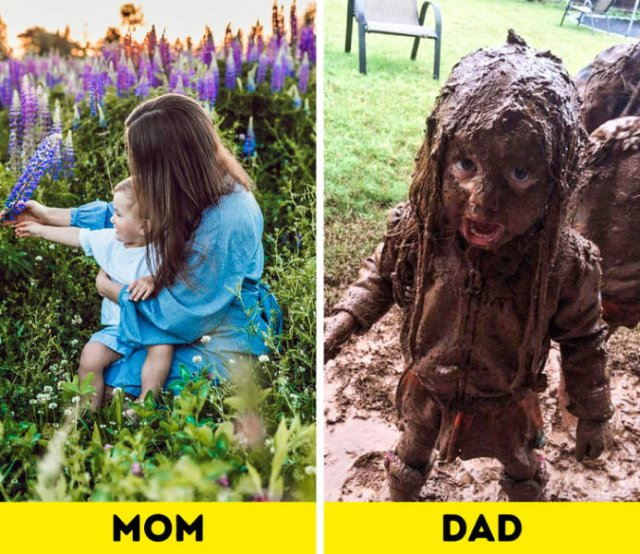 Difference Between Moms And Dads (16 pics)