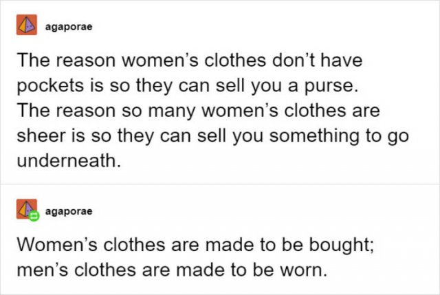 Women Want Pockets In Their Clothes! (30 pics)
